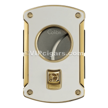 Colibri Cutter - Double Blade - Slice - Ring 64 - Stainless - Rubber Side Grips - White & Gold